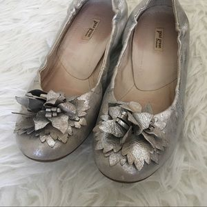 Paul Green Shoes - Paul green silver flower toe leather ballet flats