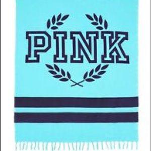 PINK Victoria's Secret Accessories - Victoria secret PINK blue festival beach blanket