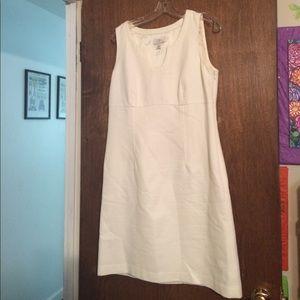 LOFT Dresses & Skirts - Mint Condition Ann Taylor Loft White Linen Dress