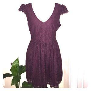 Kimchi Blue Dresses & Skirts - Deep purple Kimchi Blue Lace Dress