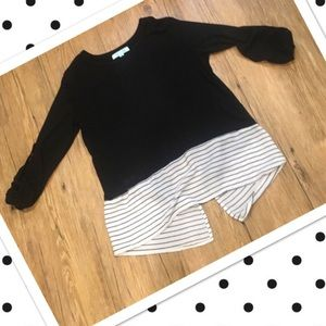 She and Sky Tops - Light weight split back sweater
