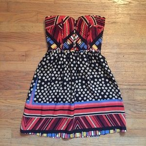 MM Couture Dresses & Skirts - Multicolored Polka Dot & Striped Dress
