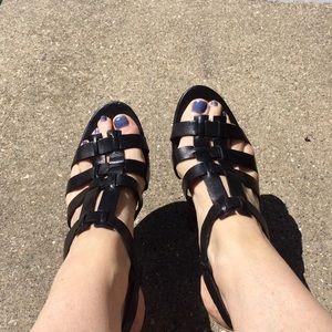 Franco Sarto black sandals size 9.5 M