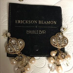 Erickson Beamon Jewelry - Erickson Beamon costume earrings by Bauble Bar