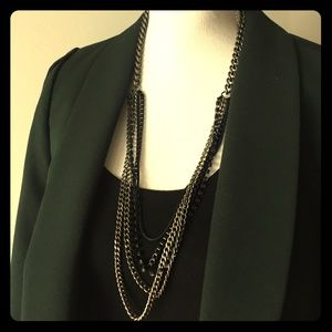 J.Crew Six Chain Link Tiered Necklace