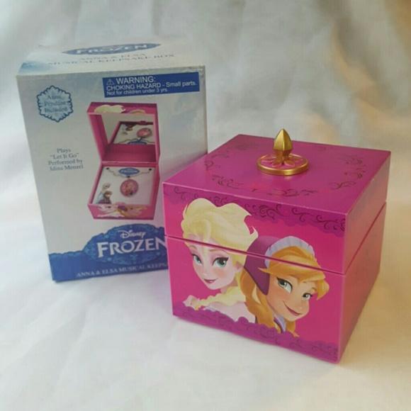 Disney Frozen Anna /& Elsa Pink Keepsake Musical Box
