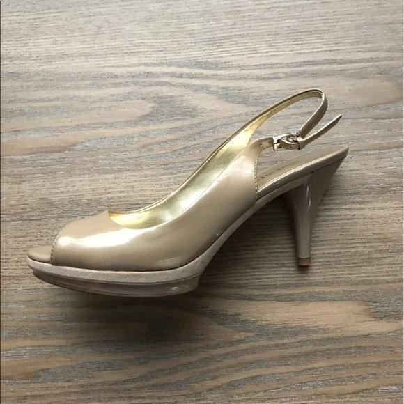ad031cdfca Nine West Shoes | Sharina Platform Slingback Heels Size 7 | Poshmark