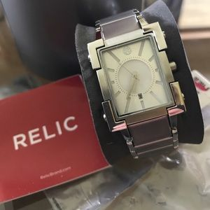 Relic Accessories - Relic Brand stainless steel watch-rectangular-new