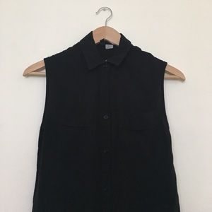 Forever 21 button up sleeveless blouse