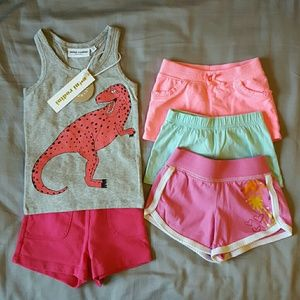 Mini Rodini Other - Adorable T-Rex tank with 4 pairs of shorts
