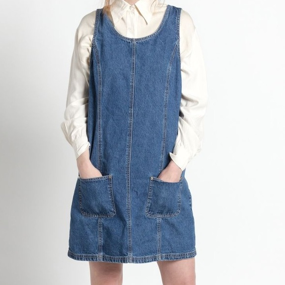 Denim Co. Dresses | Dress Dark Jean Denim Co Jumper Vintage 90s | Poshmark