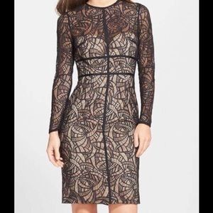 Monique Lhuillier Dresses & Skirts - Monique Lhuillier cocktail dress NWT Black & nude