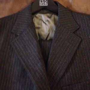 Hickey Freeman Other - Hickey Freeman Grey Pinstripe 3 Piece Suit 40R