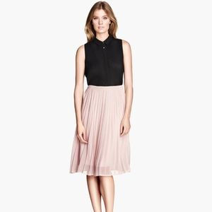 NWOT Blush Pleated Skirt