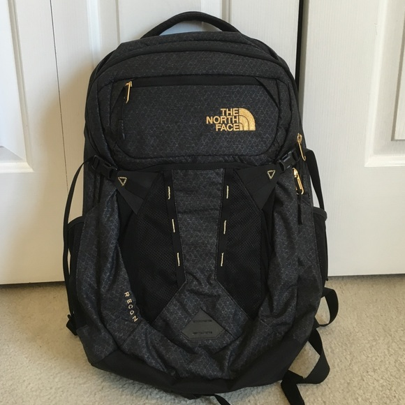 ac5846e44 North Face Recon Backpack in Black/24K Gold