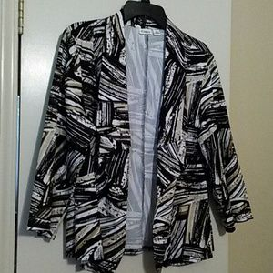 Cato Jackets & Blazers - Printed open front jacket.   NWOT