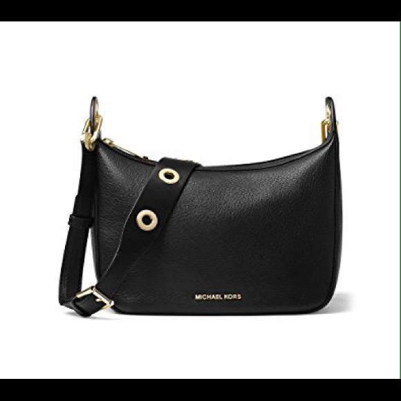 c5f541559230 Michael Kors Raven black medium messenger bag