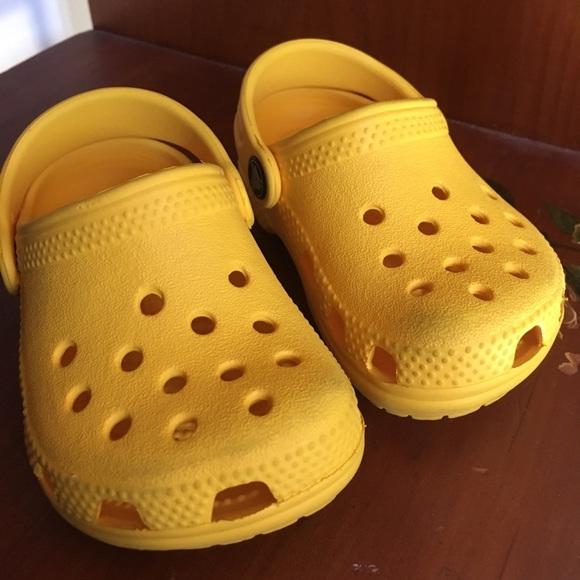 Baby Yellow Crocs Littles Infant   Poshmark