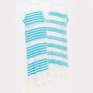 NWT LemLem Turquoise striped coverup