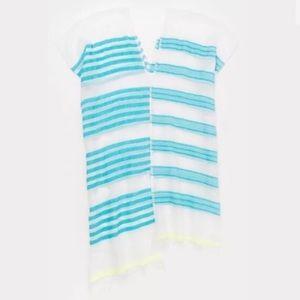 NWT LemLem Turquoise striped coverup