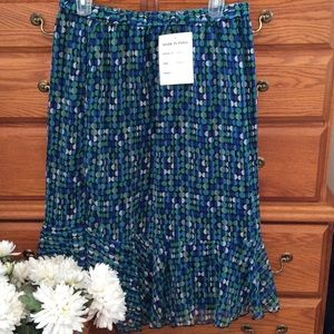 Anthony Richards Dresses & Skirts - Anthony Richards Blue/Green Dotted Skirt NWT