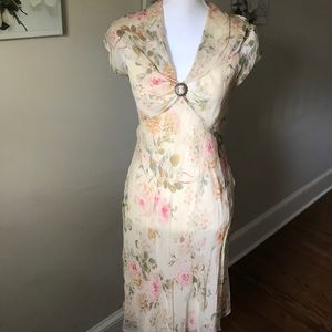 NWOT sz 4 Ralph Lauren 100% silk dress gorgeous!