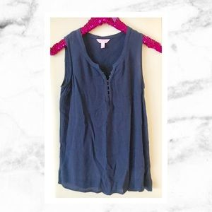 Lilly Pulitzer Tops - Lilly Pulitzer Navy Larissa Top