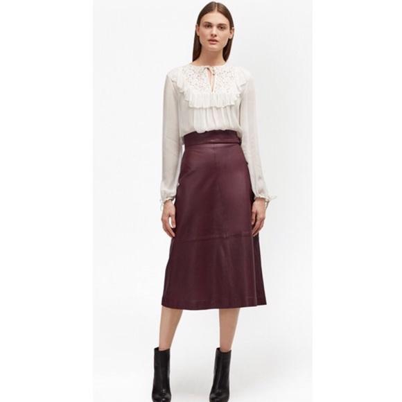 1e0221206 French Connection Skirts   Nwt Annie Leather Midi Skirt   Poshmark