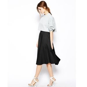 The Fifth Label textured fit and flare midi skirt
