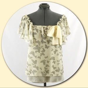 Anthropologie Tops - Anthropologie - a'reve 💕Sheer Butterfly Blouse💕