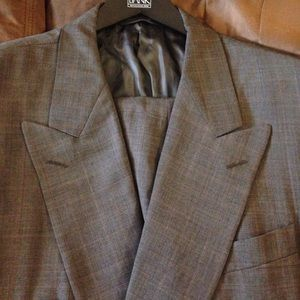 Hickey Freeman Other - Hickey Freeman Grey Plaid Double Breasted Suit 42L