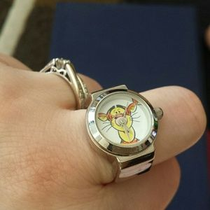 Timex Jewelry - Timex Tigger stretch ring watch, vintage 90s!