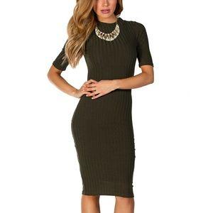 Olive Green Midi Dress