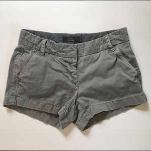 J. Crew Chino Shorts Khaki Grey Sz 0