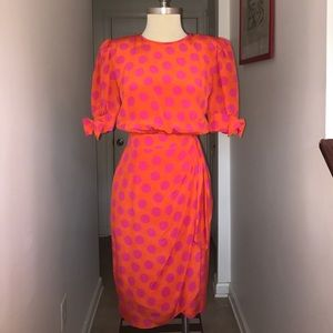 Escada Dresses & Skirts - Vintage Escada Margaretha Ley Pink & Orange 😘😘