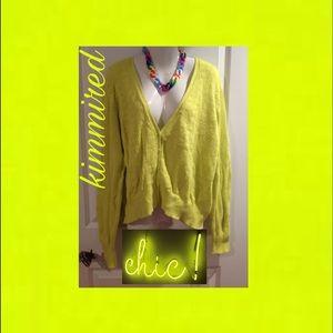 ToRRiD Neon Yellow Sweater Cardigan ~ 3️⃣/(3X)
