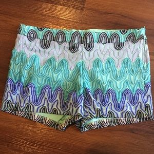 Judith March Pants - Judith March Chevron Embroidered Shorts