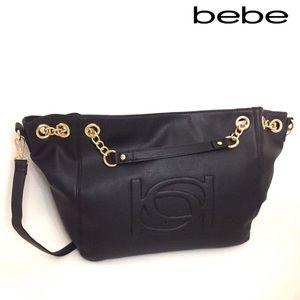bebe Handbags - Bebe Tote in Black/Gold-Offers Considered🌸