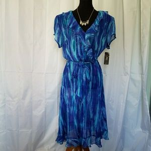 JBS Dresses & Skirts - JBS NWT RUFGLED FIT & FLARE DRESS SIZE 18