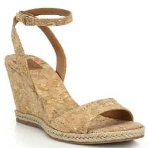 tory burch marion natural cork wedge 5.5