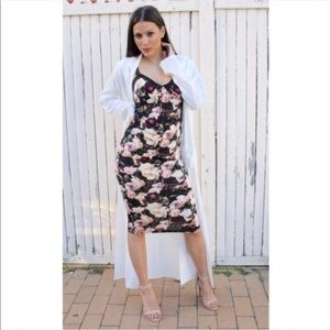 Dresses & Skirts - Cotton . Knit lace trim red/pink tone slip dress