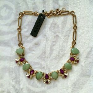J. Crew Jewelry - Jcrew green purple statement necklace