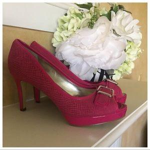Pink Peeptoed Heels