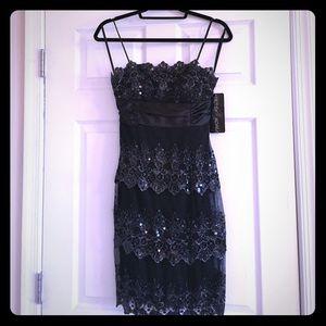 Betsy & Adam Dresses & Skirts - Black Sequin Satin Formal Betsy & Adam Dress-Size6
