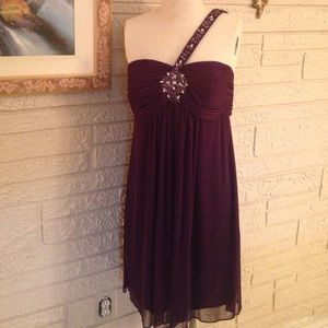 Xscape Dresses & Skirts - NWT Xscape Beaded One Strap Dress