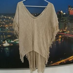 Say What? Tops - Say what? Brand fringe top