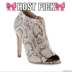 Charles Jourdan Shoes - Reduced price! Snakeskin Bootie in sizes 7.5 & 8.