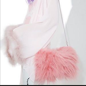Cute Pink Fuzzy Purse