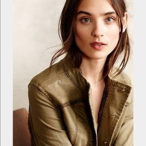 Anthropologie olive green utility jacket.