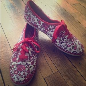 Keds Shoes - Red floral Keds